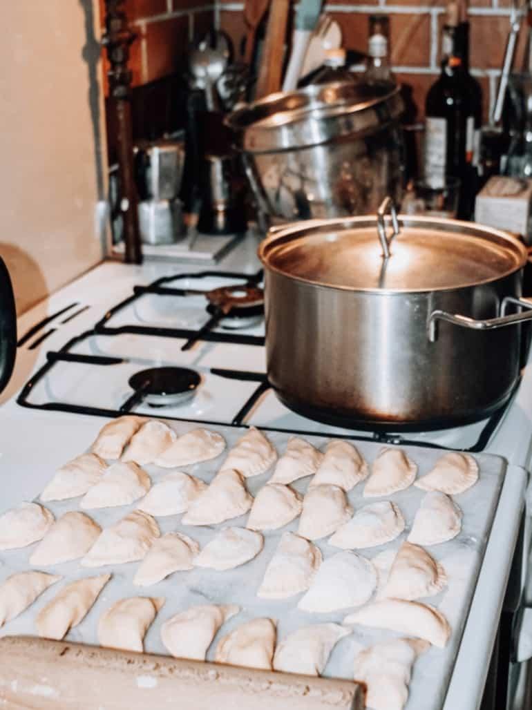 authentic pierogi from a Polish chef